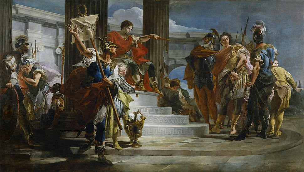 Giovanni Battista Tiepolo - Scipio Africanus Freeing Massiva - Walters 37657