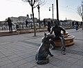 Girl With Her Dog Statue by David Raffai at Vigado Square, Budapest (Ank Kumar) 05.jpg