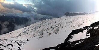 Tronador - View of Castaño Overa Glacier