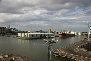 Gladstone Dock - An overview of Gladstone Dock in June 2009