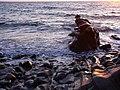 Glen Maye, beach, evening sunlight - geograph.org.uk - 777839.jpg