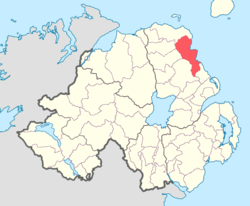 Location of Glenarm Lower, County Antrim, Northern Ireland.