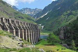 Gleno Dam - Downstream side of failed dam