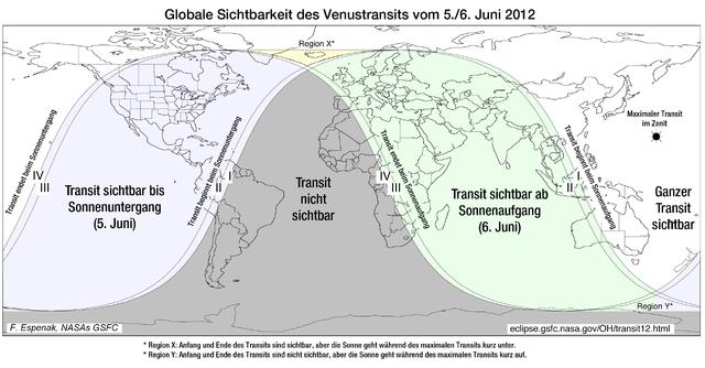 Venustransit - Globale Ansicht - gemeinfrei von der NASA by Wikimedia Commons