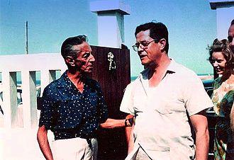 Agustín Lara - The Eng. Guillermo González Camarena, with Agustín Lara.