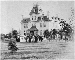 Government House (Manitoba) - A garden party on the front lawn of Government House, 9 August 1889