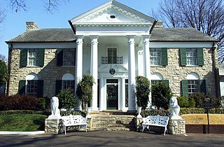 Graceland Historic estate and former home of Elvis Presley in Memphis, Tennessee