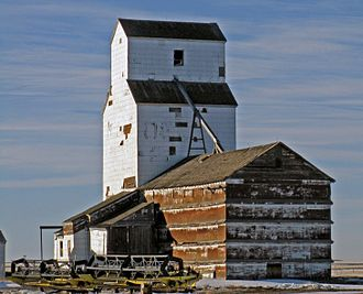 Canadian Wheat Board - Grain elevator in Wrentham, Alberta