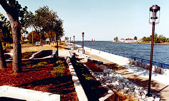 Grand Haven, Michigan - The entrance to the harbor at Grand Haven, Michigan.
