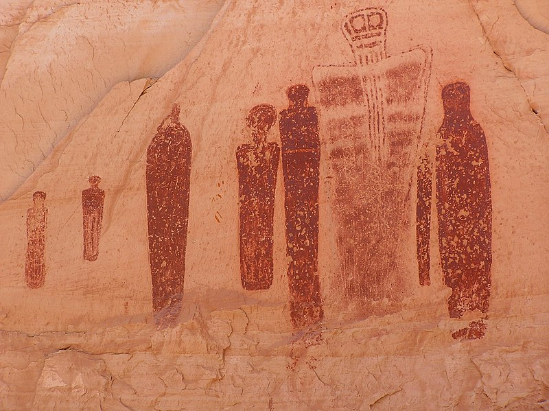 Pictograms, Horseshoe Canyon, Canyonlands National Park, Utah