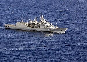 Greek frigate Spetsai - Image: Greek frigate HS Spetsai, F 453