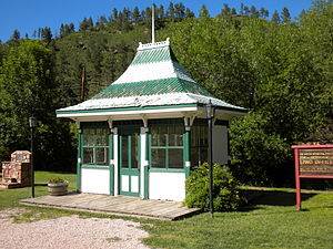 Green Mountain Falls, Colorado - Old land office in the park