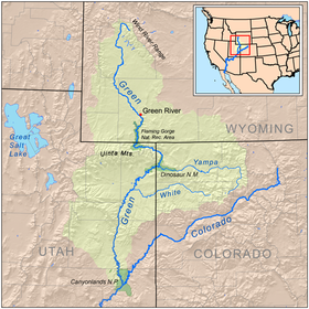 La Green River dans la bassin du Colorado.