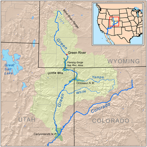 Green River Colorado River Wikipedia - Us map mountains and rivers