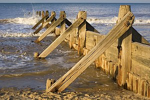 Coastal management - Groyne at Mundesley, Norfolk, UK