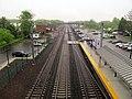 Guilford station facing east from bridge, May 2013.JPG