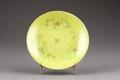 Gul tallrik gjord i Kina - Hallwylska museet - 95921.tif