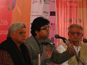 Jaipur Literature Festival - Gulzar, Javed Akhtar, and Prasoon Joshi at Jaipur Literature Festival 2011