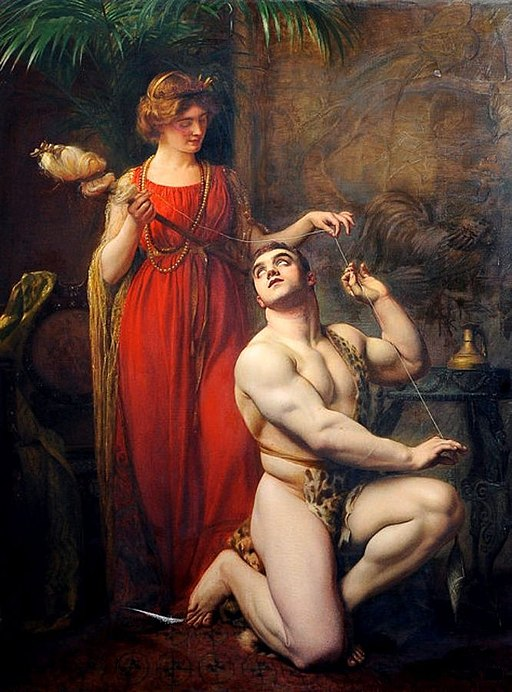 Gustave Courtois - Hercules at the Feet of Omphale, 1912