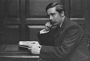 English novel - H. G. Wells studying in London, taken c. 1890
