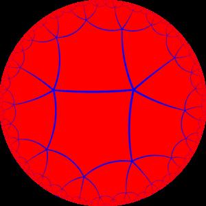 Order-5 dodecahedral honeycomb - Image: H2 tiling 255 1