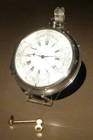"John Harrison - Harrison's ""Sea Watch"" No.1 (H4), with winding crank"