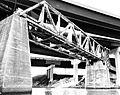 HB&T Railway Bridge from Buffalo Bayou, Houston, Texas 1002101510BW (5056815159).jpg