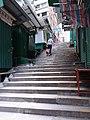 HK 中環 Central 皇后大道中 Queen's Road Central 鴨巴甸街 Aberdeen Street ladders morning Sunday June 2019 SSG 06.jpg