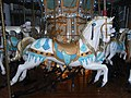 HK Central Statue Square Gardens Chritmas Tiffany Carousel horses evening Dec-2012.JPG