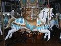HK Central Statue Square Gardens Chritmas Tiffany Carousel horses evening Dec-2012.JPG