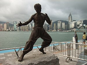 "Kogarah, New South Wales - A replica of Kogarah Town Square's ""Bruce Lee of Kogarah"" statue"