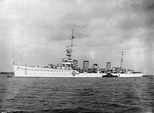 Emerald-class cruiser - Image: HMS Emerald WWI IWM Q 045940