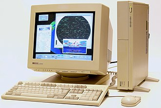 Workstation - HP 9000 model 425 workstation running HP-UX 9 and Visual User Environment (VUE)