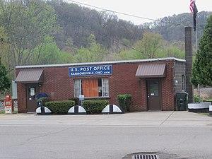 Hammondsville, Ohio - The Post Office is on Ohio State Route 213