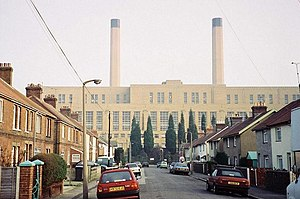 Poole Power Station - Poole Power Station, days before the demolition of the chimneys