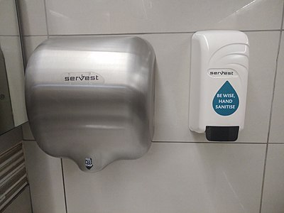 Hand sanitizer to be used for hand washing instead of soap and water in Capetown 2018.jpg