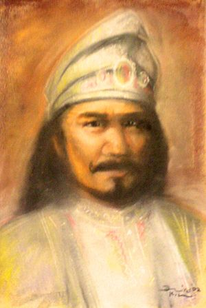 Hang Jebat - Artist's depiction of Hang Jebat, Malacca Sultanate Palace Museum.
