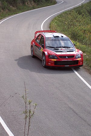 Rally de Catalunya - Harri Rovanperä driving on SS9 of the 2005 rally.