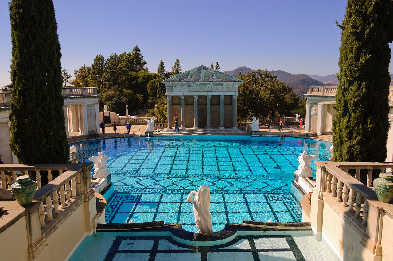 File hearst castle neptune pool september 2012 - Hearst castle neptune pool swim auction ...