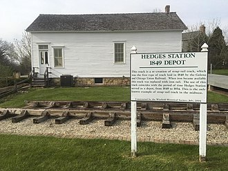 "Winfield, Illinois - Hedges Station ""Besch House"" is the oldest remaining train depot in Illinois"