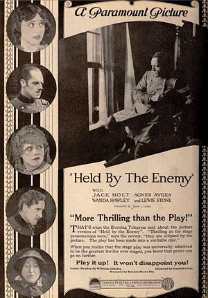 Held by the Enemy (film) - Advertisement