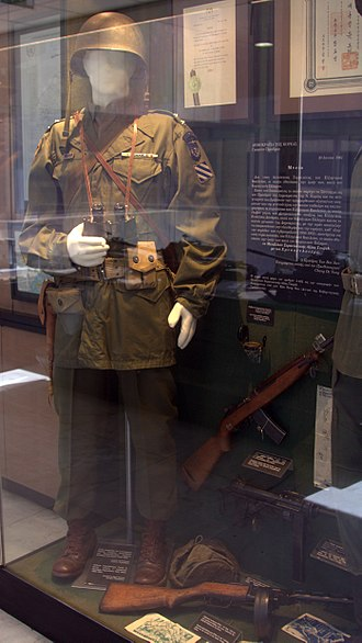 Greek Expeditionary Force (Korea) - Uniform of the Greek expeditionary force uniform on display in the Hellenic war museum of Athens