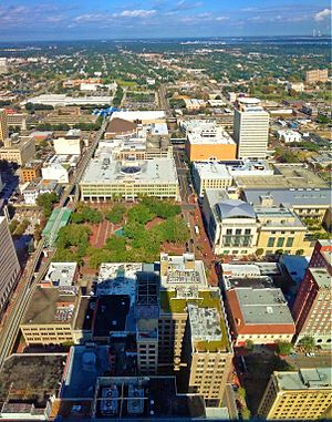 Laura Street - view from the Bank of America Tower looking toward Hemming Park