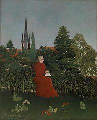 Portrait of a Woman in a Landscape (Portrait de femme dans un paysage)