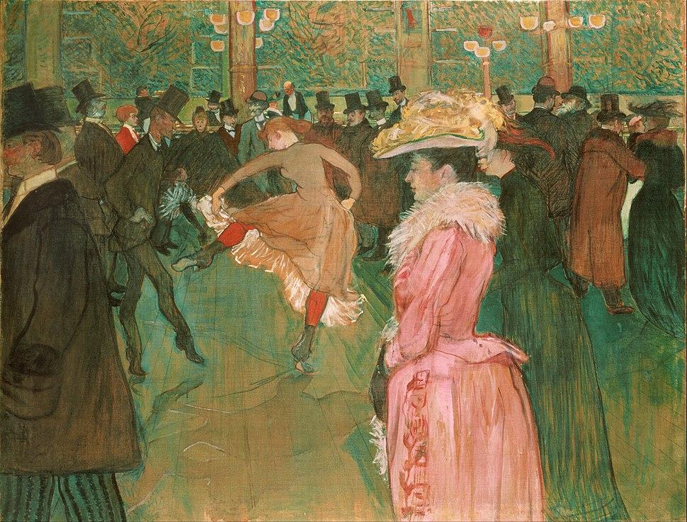 Henri de Toulouse-Lautrec, French - At the Moulin Rouge- The Dance - Google Art Project