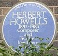Herbert Howells 3 Beverley Close blue plaque.jpg