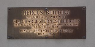 Charles Ernest Hercus New Zealand doctor and Dean of the Faculty of Medicine, University of Otago.