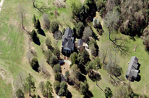 Heriot-Moise House - Aerial view of the house