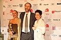 Hessischer Filmpreis 2016 - Catenia Lermer - Dunja Hayali 1.JPG
