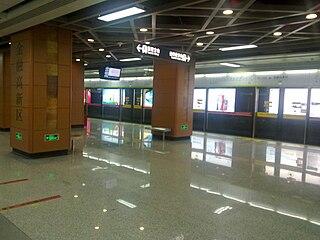 Financial Hi-Tech Zone station Guangfo Metro station in Foshan